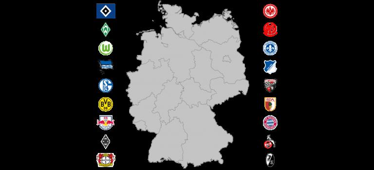 Einzelgänger und Ballungszentren: Einzugsgebiete der Bundesliga-Clubs