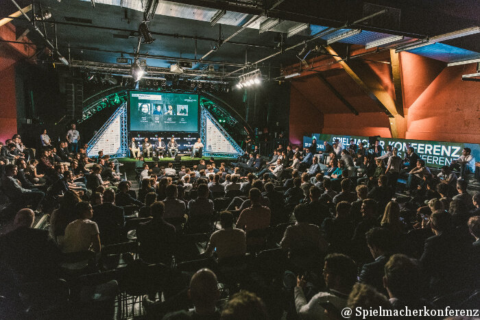 Die Arena (Hauptbühne) bei der Spielmacherkonferenz