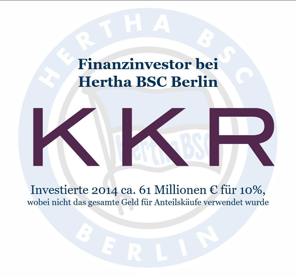 Investoren im Fußball: KKR als Finanzinvestor bei Hertha BSC