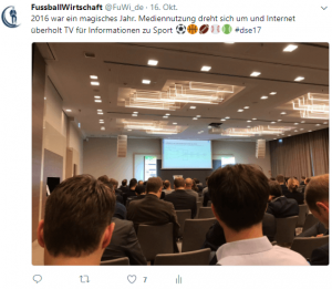 Tweet zur DIGITAL SPORTS & ENTERTAINMENT zur Mediennutzung