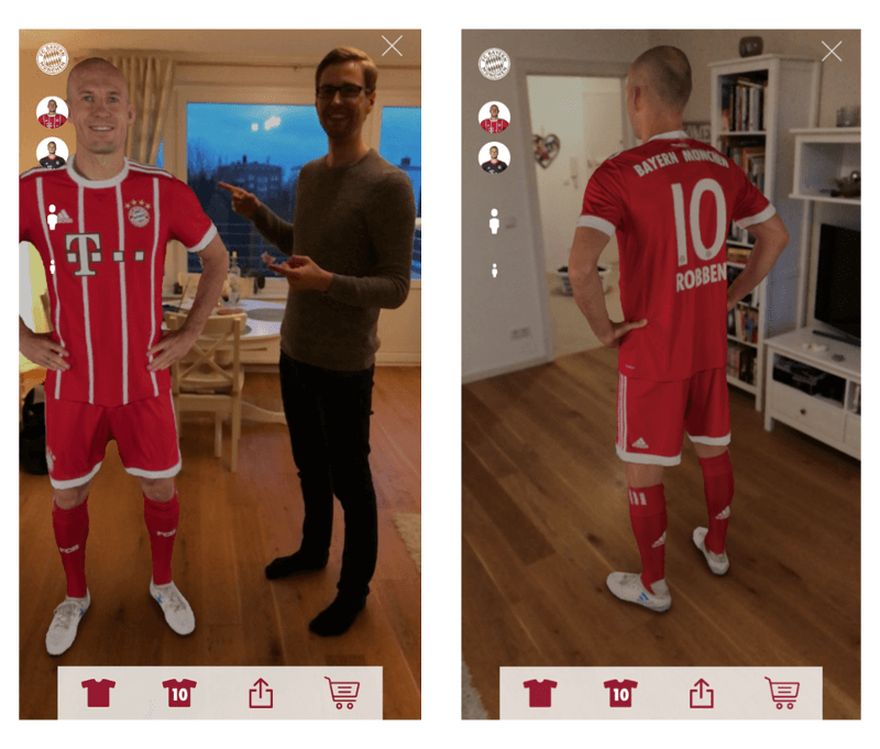 Sportmanagement 2018: AR-Funktion der Bayern-App