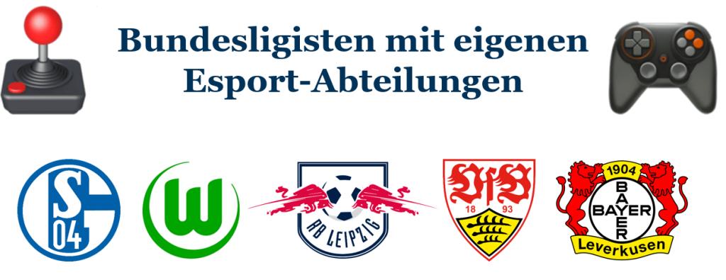 Diese Bundesligisten haben eine eigene eSports-Abteilung