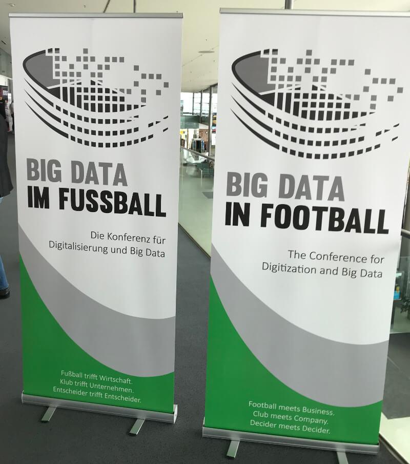 Empfangsbereich bei der Konferenz zu Big Data im Fußball