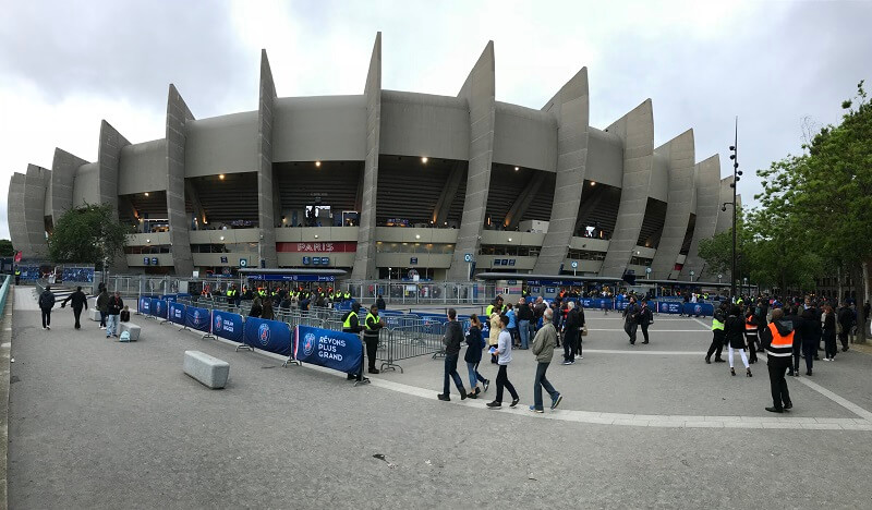Der Prinzenpark von PSG von außen