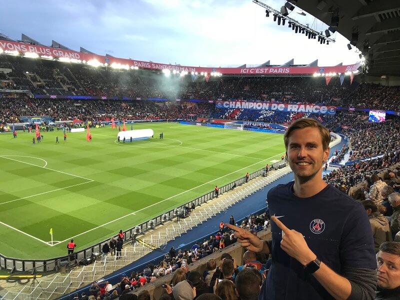Ich das erste Mal im Prinzenpark beim letzten Heimspiel 2017/18 von PSG