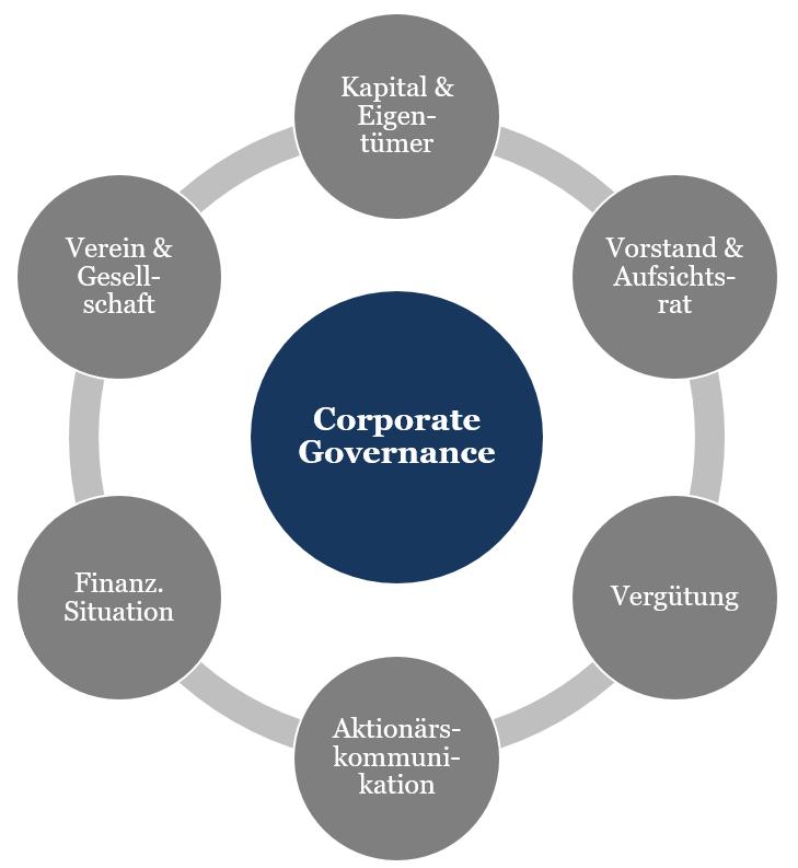Corporate Governance im Fußball: Analyse-Bereiche