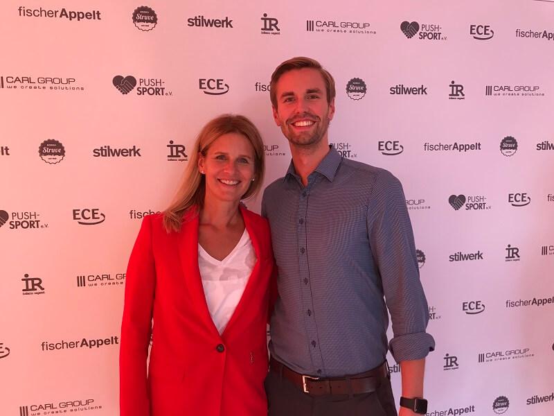 Bei der Preisverleihung im Spitzensport habe ich mich ein bisschen gefühlt wie im Aktuellen Sportstudio - hier mit Katrin Müller-Hohenstein