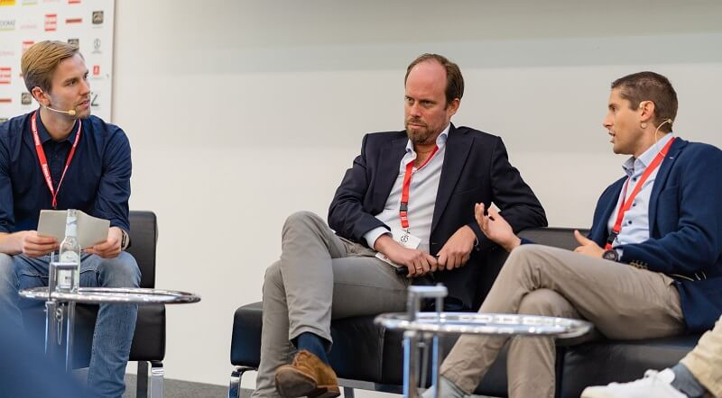 Diskussion zum Medienkonsum im Fußball bei der FUTURE OF FOOTBALL BUSINESS Conference 2018 [Foto: Christof Hüter]