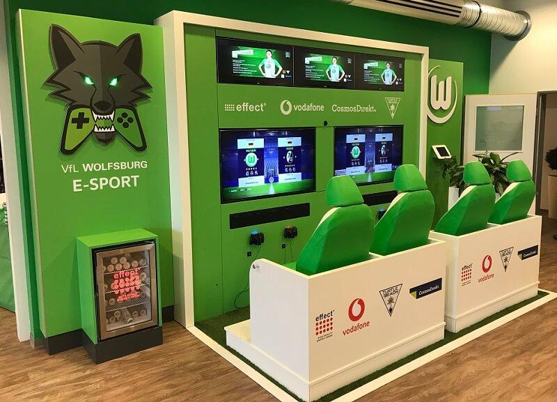 Aktivierung der eSports Aktivitäten im Stadion des VfL Wolfsburg am Spieltag