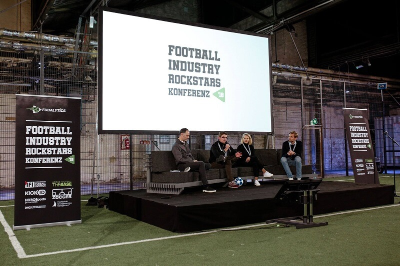 Panel zu Spielanalyse & Co bei den Football Industry Rockstars