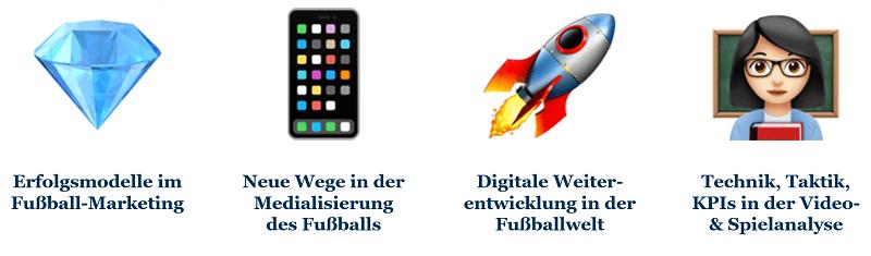 Die vier Themen bei den Football Industry Rockstars