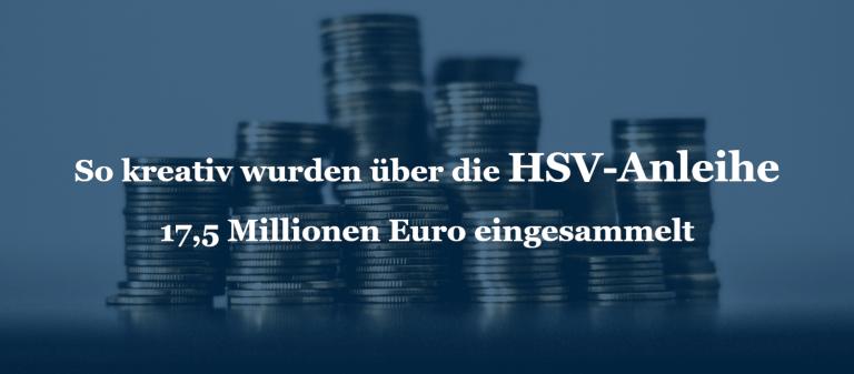 So kreativ wurden über die HSV-Anleihe 17,5 Millionen Euro eingesammelt
