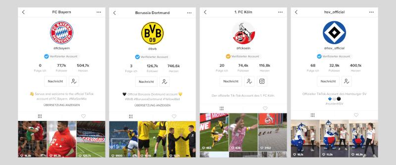 TikTok im Sport: Erste Bundesligisten erstellen einen eigenen Kanal