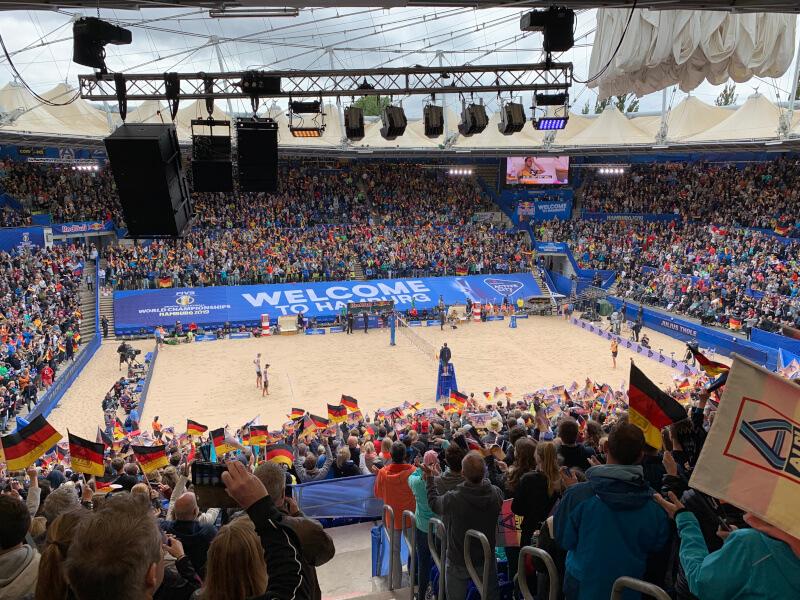 Finale bei der Beachvolleyball WM [@Eigene Aufnahme]