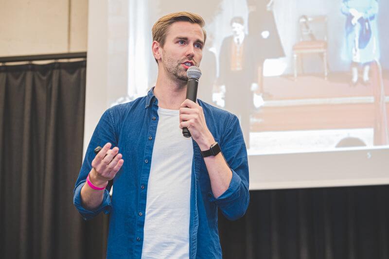 Keynote zu Soft Skills beim ersten Sportsbusiness Career Day in Graz [Foto: Christof Hütter]