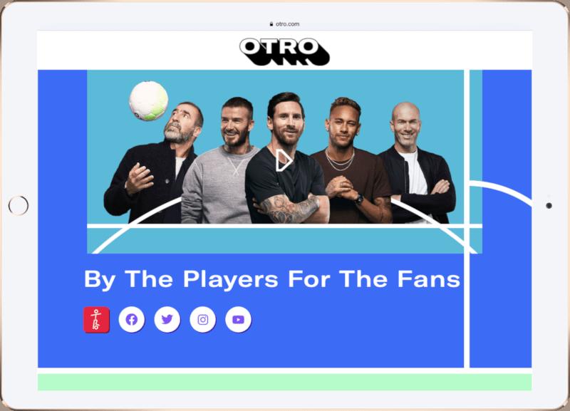 Startseite von OTRO - Plattform im Fußball